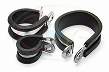 P Clips - Mild Steel, Rubber Lined  *£0.25 EACH!*   *CLICK HERE FOR FULL DETAILS AND QUANTITY PRICES!*