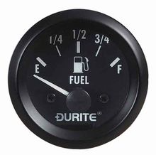 12V Illuminated Fuel Gauge with Sender - 52mm
