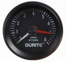 12V Illuminated Tachometer - 0-8000RPM 52mm