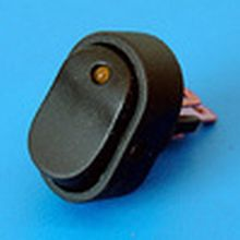 Rocker Switch Oval 12 volt  - LED Illuminated